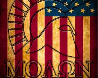 Molon Labe American Flag Cornhole Wrap Bag Toss Decal Baggo Skin Sticker Wraps