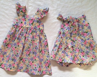 Easter Dress, Baby Girls Dress, Little Sis Big Sis Set, Matching Sisters Dress, Little Girls Dress, Baby Girl Onesie, Matching Dresses