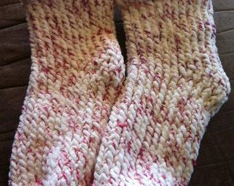 Womens tall fancy slipper socks 100% polyester