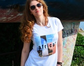 Travel inspired t shirts for women - Africa t shirt - cotton t shirts - wanderlust gifts - travel clothing - gifts for travelers - casual