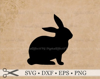 BUNNY SVG, Easter Bunny Svg Dxf, Eps, Png Files, DigitaI Easter Bunny Silhouette Files, Bunny Rabbit Vector, Easter ClipArt Vector Bunny