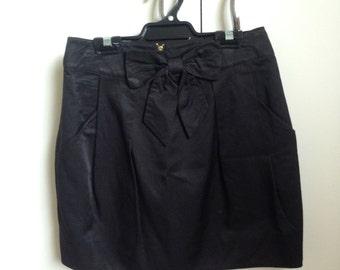 Black High Waisted Mini Skirt - Size 8