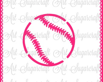 Baseball sport ball Stencil for cookie decorating  ! cookie cupcake stencil !  Nb1454