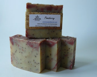 Pomaberry cold process exfoliating soap
