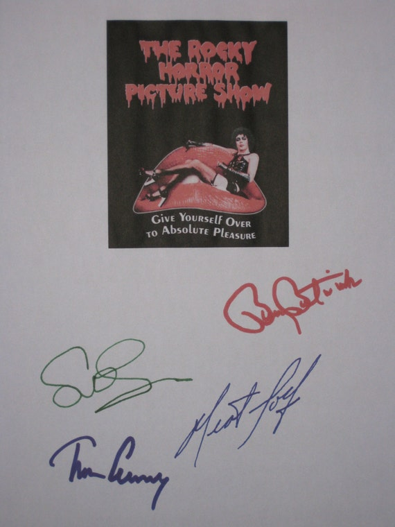 The Rocky Horror Picture Show Signed Script Screenplay autograph Tim Curry Meat Loaf Susan Sarandon Barry Bostwick musical signature