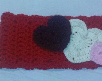 Crochet valentines headband