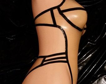 Latex swimsuit latex lingerie latex body