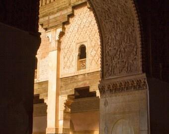 Marrakesh, Morocco - Fine Art Print,  Art Print, Color Print, Moroccan Art Print, Marrakech, Morocco, Mosaic Door, Morrocan Art