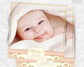Glitter Frame / Invitation / Christening / Baby Shower