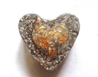 ORGONE Générateur d'énergie Vitale Palet Gros Coeur D'amour  (ORG59)