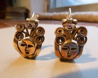 Bronze Goddess earrings