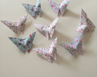 Butterfly origami pattern liberty chic shabby romantic