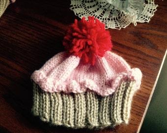 Cupcake Knit Hat