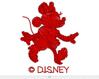Minnie  Mouse Embroidery Design Silhouette  Instant Download