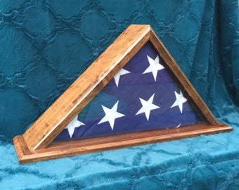 Custom Memorial Flag Display Case