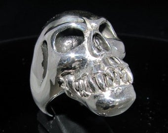 Sterling silver Zombie Skull ring