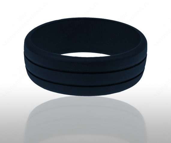Mens Rubber Silicone Wedding Ring Engagement by ...