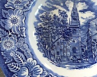 Staffordshire Liberty Blue Ironstone Bowl