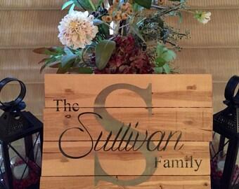 Reclaimed Pallet Family Name Sign - Custom