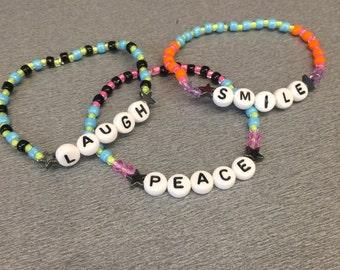 Custom bracelets any word