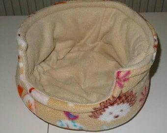 Woodlands Print Guinea Pig Cuddle Cup Fleece Bed Cosy Sleep