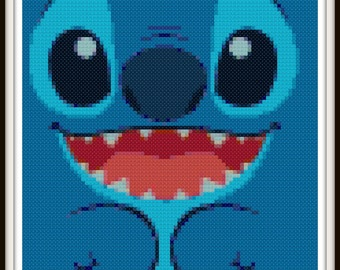 Lilo & Stitch Cross Stitch Pattern - Stitch Cross Stitch - PDF Download