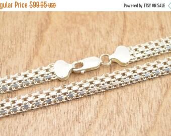 1 Day Sale Bismark Chain Necklace Sterling Silver 32.1g Vintage Estate