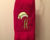 Christmas Hand Towel // Monogram Hand Towel // Christmas Decor