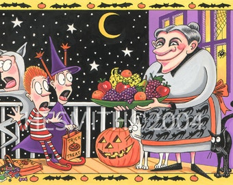 Fresh Fruit Fright - Funny Halloween Card - Scary Halloween Card - Halloween Art Card
