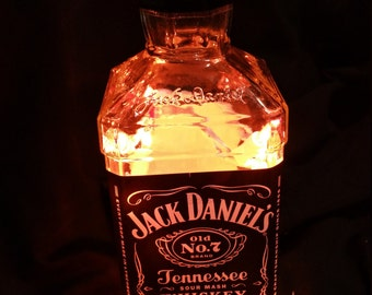 Whiskey, bottle light, light, lighting, bottle lamp,bar light, night light, accent light, gift for groomsmen, gift for him