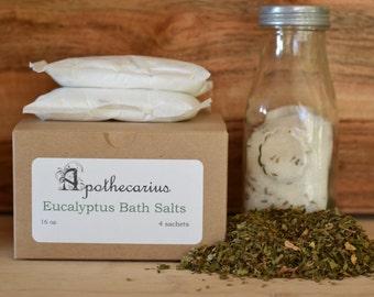 Apothecarius Eucalyptus Therapeutic Bath Salt Sachets (4)