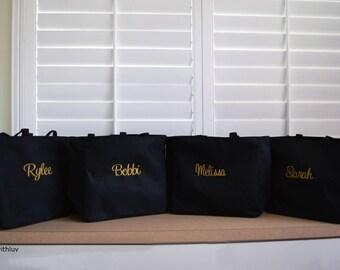 bridesmaid totes, bridal shower gift, personalized tote bag, bridesmaid bags, bridesmaid gift, bridal party gift, bridal shower gift