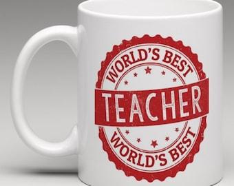Worlds Best Teacher - Novelty Mug