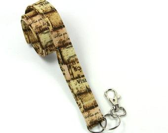 STACKS Fabric Badge Holder, Brown Lids Stack Badge Holder, Paris Badge Holder, Brown Vine Lanyard, Men's Lanyard