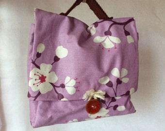 Small purple Japanese satchel
