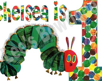 Hungry Caterpillar Iron on Transfer Custom Made