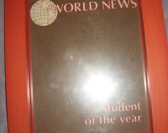 Your 8x10 Photo in here: World News/Student of the Year, Orange Picture Frame and Insert