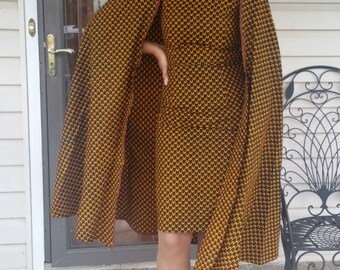 Ankara Cape Dress