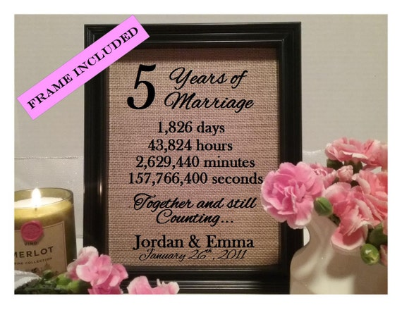 Five Year Wedding Anniversary Gifts: 5 Years Of Marriage 5th Wedding Anniversary 5 Years Of