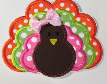 Thanksgiving Turkey - Ready to Ship FAST - Iron On  Applique