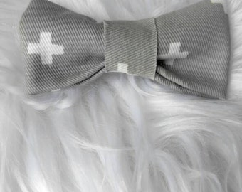 Grey and White bow tie/Grey bow tie/bow tie