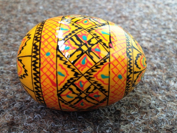 Wooden easter egg hand painted egg by karpatysuvenir on etsy - Painted wooden easter eggs ...