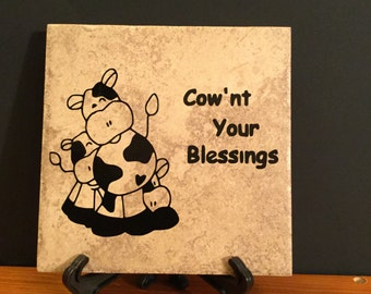 Cow Tiles Etsy