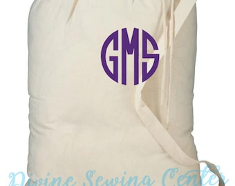 Monogrammed Laundry Bag- Personalized Clothes Laundry Bag- Graduation Gift- Drawstring Bag- Personalized Gift- Laundry-003