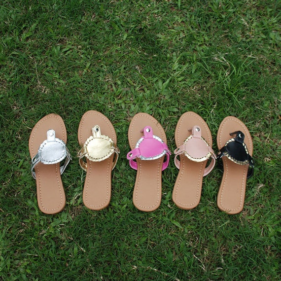 Monogrammed Sandals By Mdstitching On Etsy
