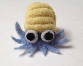 Pokemon Omanyte Needle Felted Wool