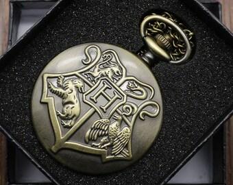 Harry Potter Pocket Watch Necklace- Vintage Inspired