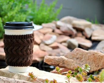 Cabled Cup Cozies