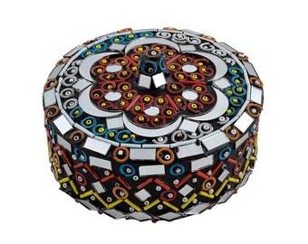 Jewellery Box - Mirror work Jewellery Box - Handmade - Ornament - Handicraft