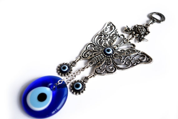 Turkish evil eye home decor wall decor wall by thesvelteshop for Evil eye home decor